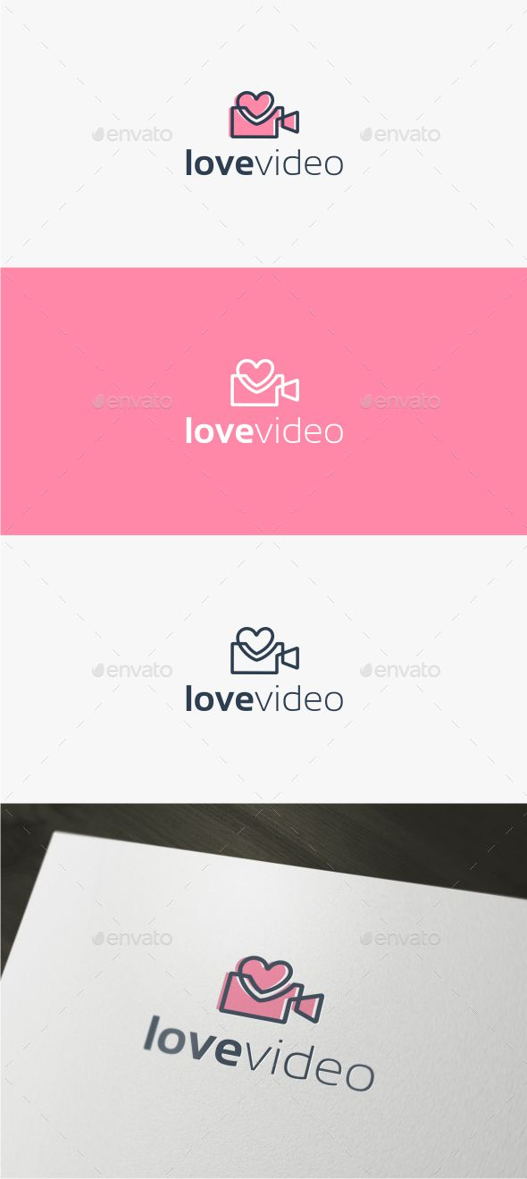 Love Video  Logo Template — Vector EPS #broadcast #board • Available here → https://graphicriver.net/item/love-video-logo-template/15129086?ref=pxcr
