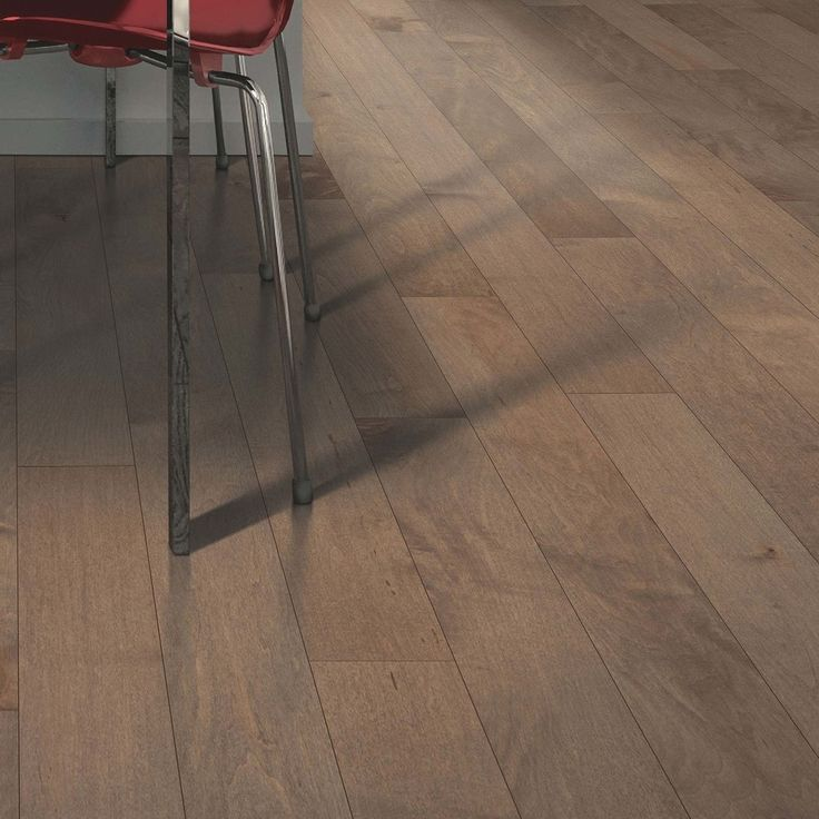 "Mohawk Flooring Solid Hardwood Flooring - Travatta Collection Smokestack / Maple / 5"" / Textured Finish"