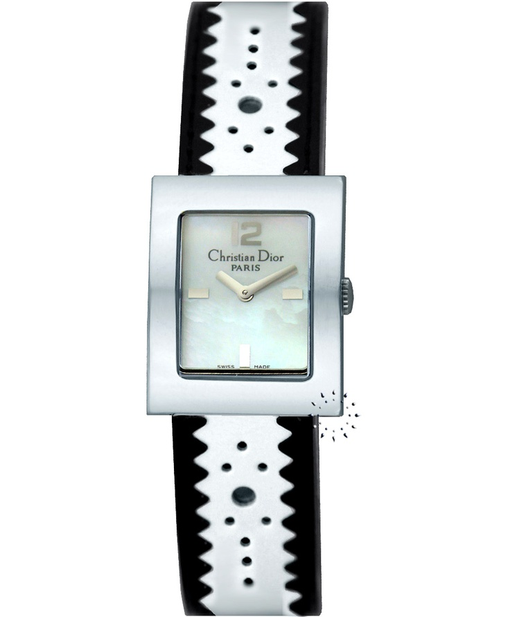 Christian DIOR Malice Black and White Leather Strap Τιμή: 756€ Τιμή Προσφοράς: 225€ http://www.oroloi.gr/product_info.php?products_id=19195