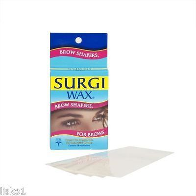 SURGI WAX BROW SHAPERS , FOR EYEBROWS, 28 APPLICATIONS