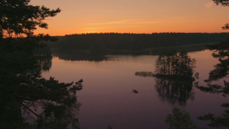 Sky colors from FInland's midnight sun, a natural phenomenon occurring in summer months at places north of the Arctic Circle and south of the Antarctic Circle where the sun remains visible at the local midnight.