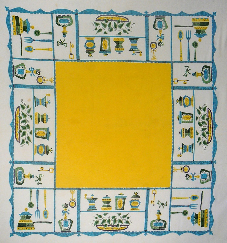 Kitchy Kitchen Decor: 1000+ Images About 1940's Tablecloths On Pinterest