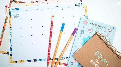 Planner mensal e semanal grátis para download