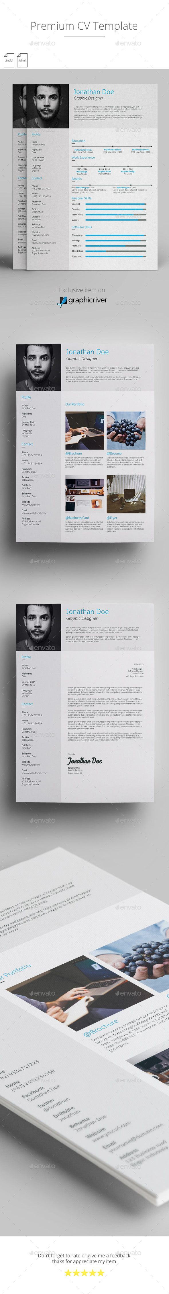 Cv Templates Design%0A Premium CV Template  design Download  http   graphicriver net item