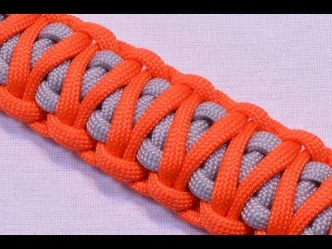 King Cobra Survival Paracord Bracelet with Buckle - How to - Dual Color - YouTube