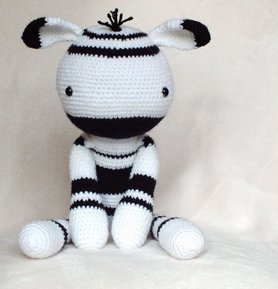 Crochet Amigurumi Zebra PATTERN ONLY Plush PDF by KornflakeStew