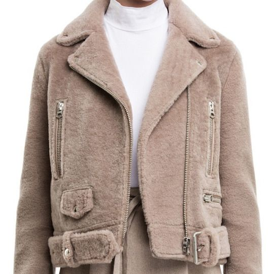 i want this forever. acne fur motorjacket