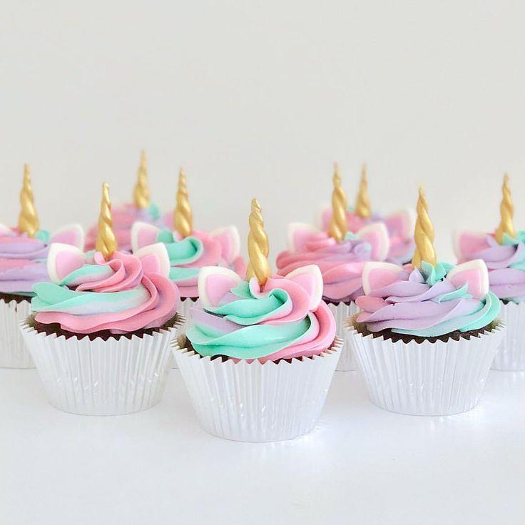 Unicorn Cupcakes Como prometí ♀️ tuve la oportunidad de usar el método gladwrap para …   – baby ideas