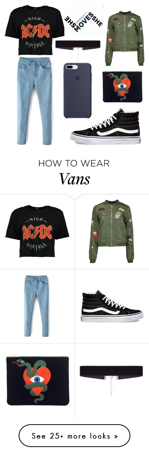 """""""Sarah Snyder kinda look"""" by chandxo on Polyvore featuring Boohoo, Vans and 8 Other Reasons"""