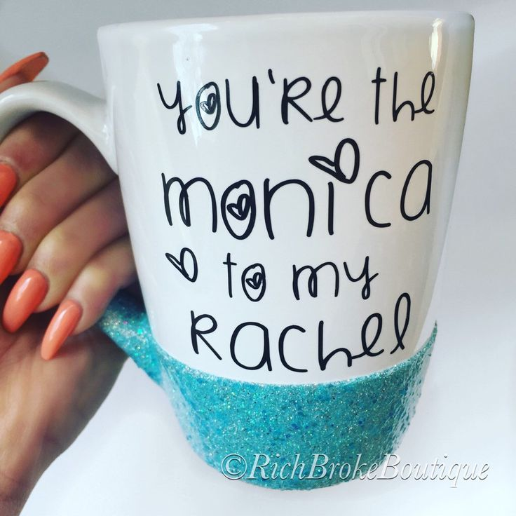You're the Monica to my Rachel - Friends TV Show Gift - Friends Fan Gift - BFF Gift - Best Friend Gift - You're my person by RichBrokeBtq on Etsy https://www.etsy.com/listing/273759612/youre-the-monica-to-my-rachel-friends-tv