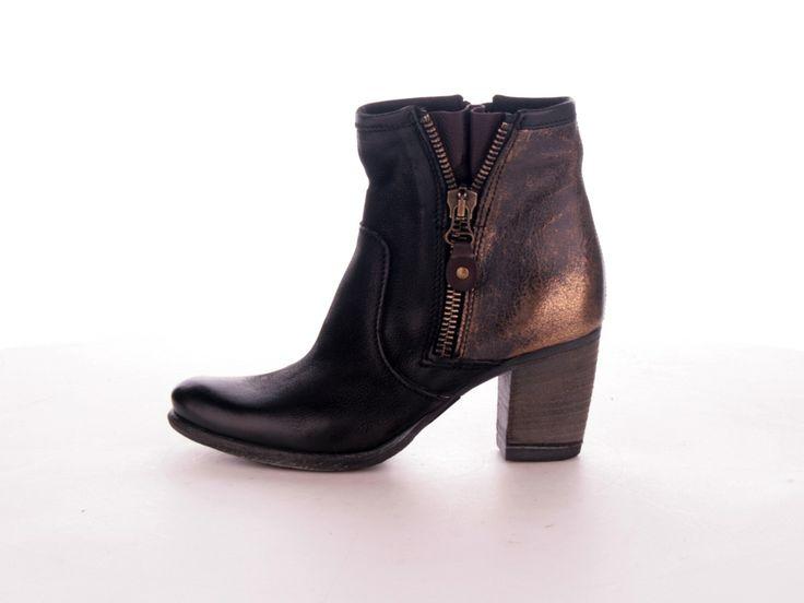 2016 Hot Sale Gabor Confess Leather Ankle Shoes Women Black HMSJA84