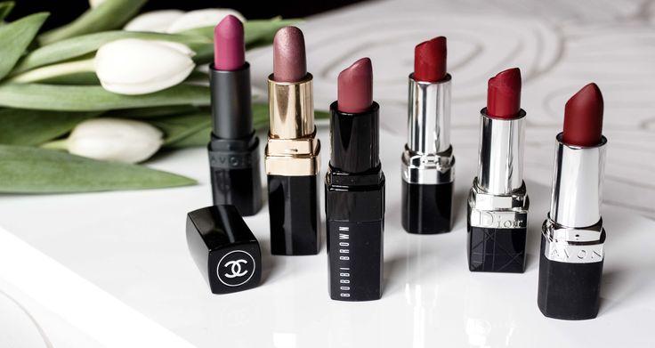#lipstick #red #pink #nude #matte #chanel #avon #bobibrown #dior