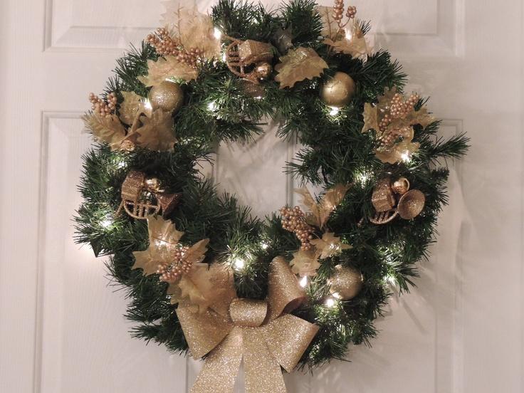Christmas Lighted Wreath