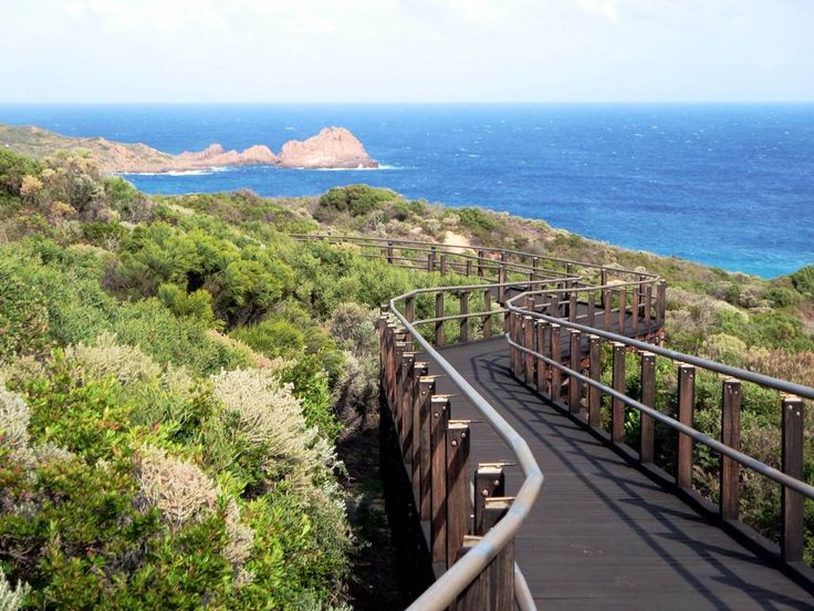The famous Western Australian Cape to Cape Track between Cape Naturaliste and Cape Leeuwin passes Sugarloaf Rock.