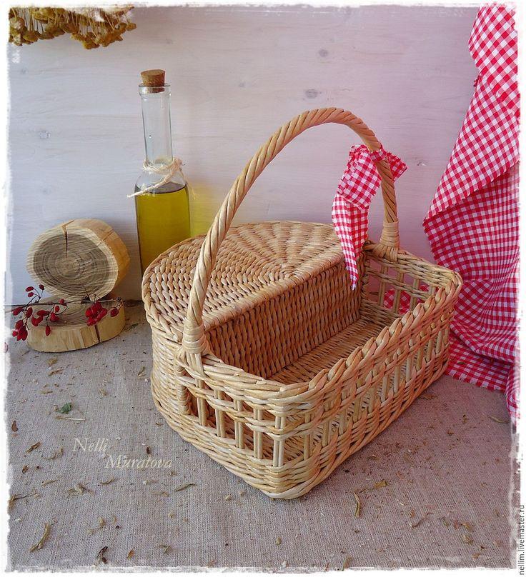 "Купить Корзина-короб по мотивам "" Лето в Провансе"" - корзина-короб плетеная, Из бумаги"
