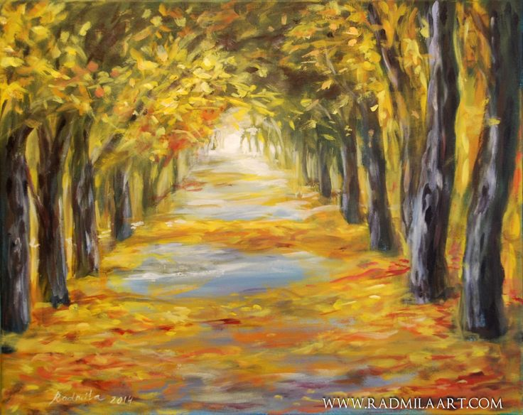 "Acrylic painting ""Autumn"", 40*50 cm. Artist - Radmila Filimonova"