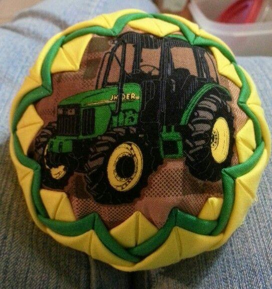 John Deere Tractor Wood Ornaments : Tractor john deere quilted ball ornament crafts