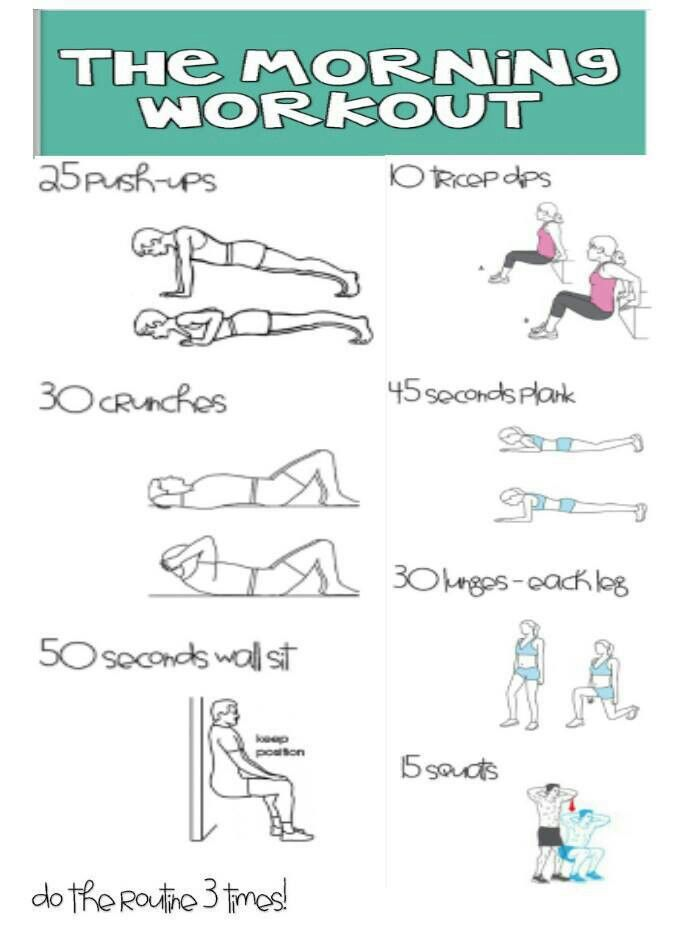 So I know I'm pinning a lot of workout routines, but I'm gonna try each one of them for about a month or so, then change it. But this, this I can always do! :D