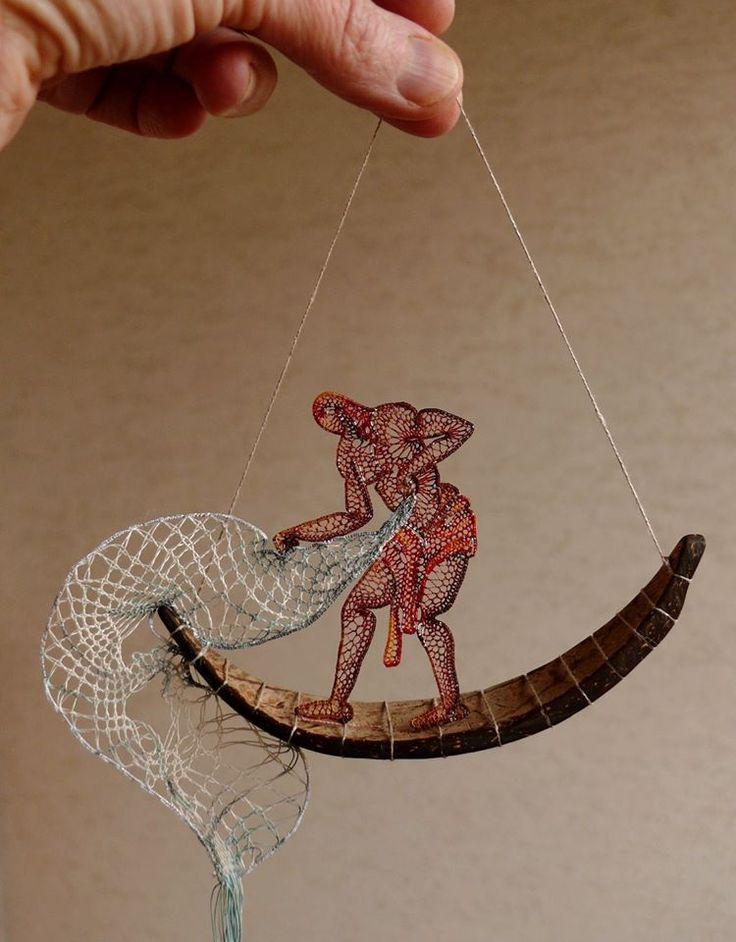 Инсталляции из ниток Агнес Герцлед — Рукоделие