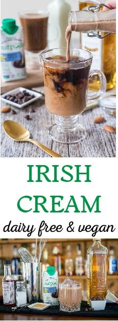Whether you're serving this vegan Irish Cream over ice or stirred into coffee, this silky and not-too-sweet boozy concoction is sure to please. For a more traditional Irish cream, use vanilla-flavored nutpods; if you're feeling more adventurous, stir in our hazelnut-flavored variety!  Serve over ice, or add a splash of this whiskey, espresso, chocolate and coconut liqueur to your coffee or hot chocolate. This drink recipe will be sure to make any happy hour! Dairy-free and delicious!