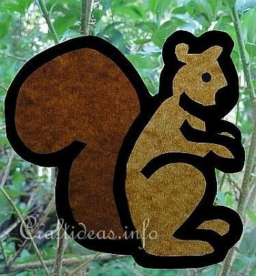 Fall Craft for Kids - Paper Squirrel by bernadette