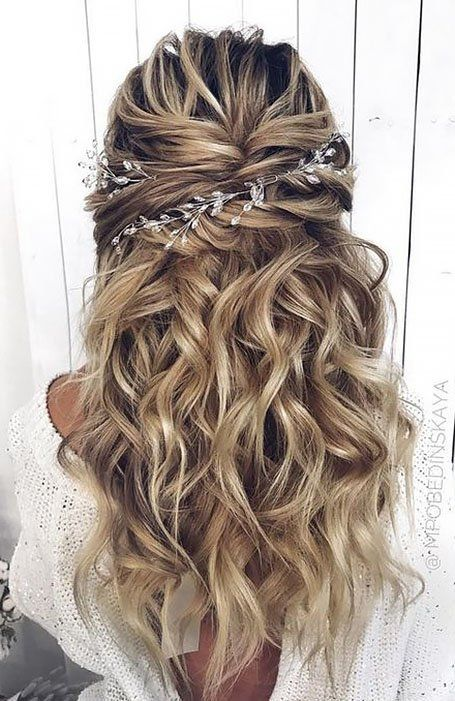 30 Chic Bridal Hairstyles for Your Special Day | Wedding hair down, Hair styles, Princess hairstyles