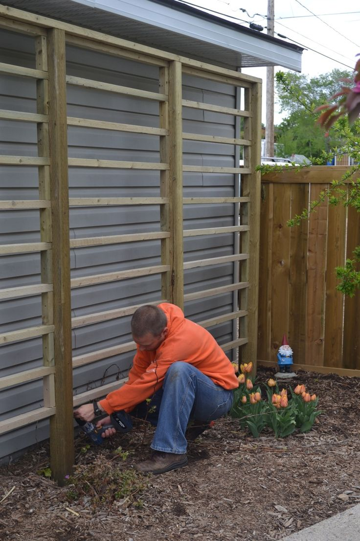 @:Attaching horizontal pieces to a heavy duty trellis ...