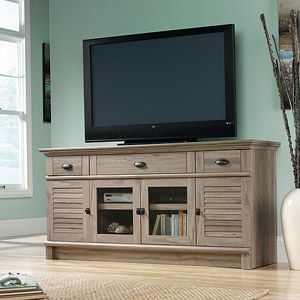 "http://www.idecz.com/category/Tv-Stand/ Sauder Harbor View TV Stand for TVs up to 70"", Salt Oak"