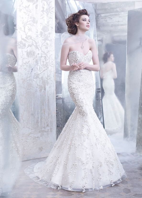 LazaroDresses Wedding, Wedding Dressses, Bridal Collection, Mermaid Wedding Dresses, Brides, Bridal Gowns, Silk Ribbons, Sweetheart Neckline, Wedding Dresses Style