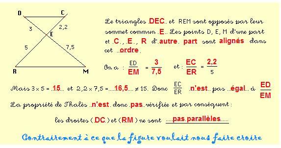 Thales theorem - Théorème de Thalès- Teorema de Thales: Thales