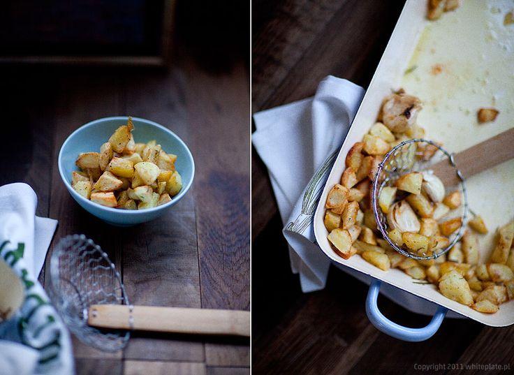 Chrupiące ziemniaki z rozmarynem i solą morską – White Plate