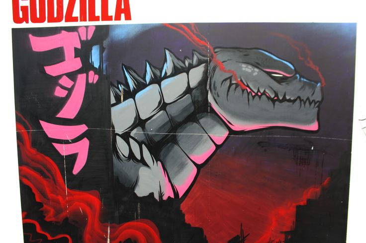 Awesome Godzilla. Street art in Dublin. Artist/s unknown