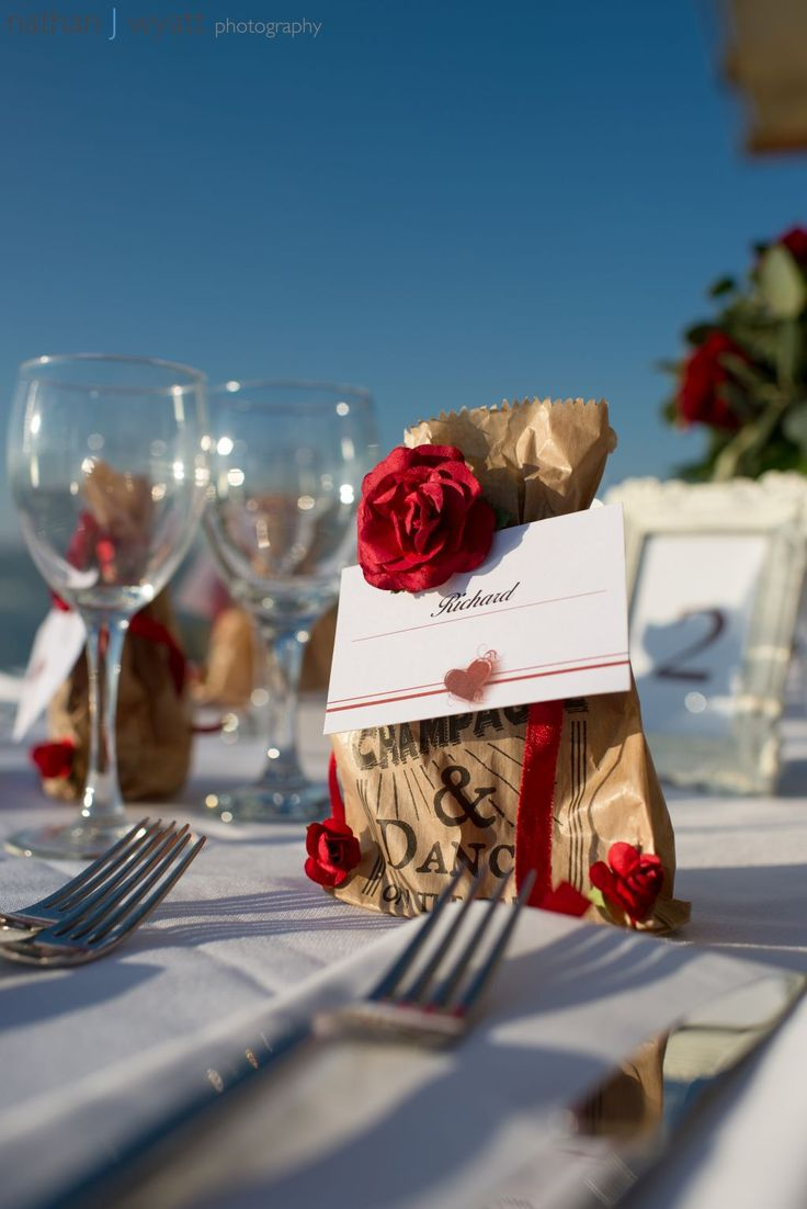 Make personal, easy to carry home destination wedding favors for your guests to enjoy