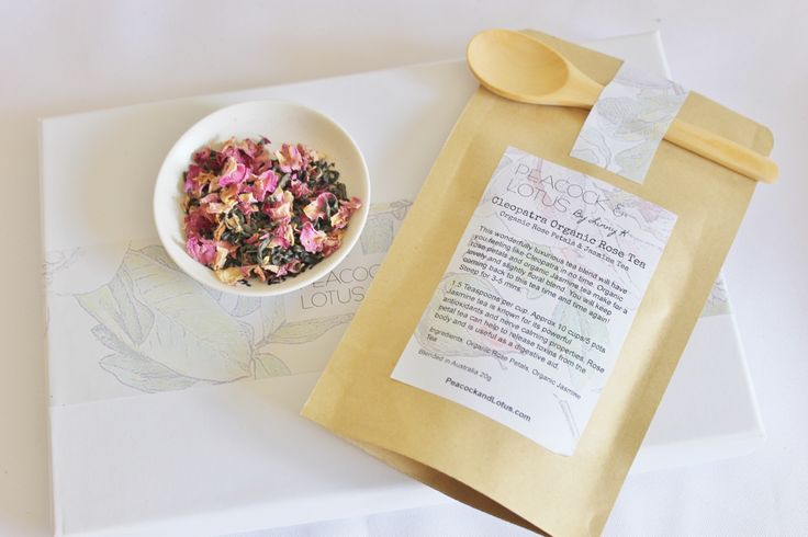 Organic Cleopatra Rose Petal & Jasmine TeaCleopatra Rose TeaAvailable in 20g or 80g pack20g. Enough for roughly 8-10 cups of tea 5 pots80g Enough for roughly 40 cups or 20 potsComes with wooden spoonThis wonderfully luxurious tea blend is aromatic and organic. This blend of jasmine tea and organic rose petals makes for a lovely cuppa with a slightly floral rose taste that's not too overpowering.Why not evoke the memory of Cleopatra with this beautiful organic tea blend.Why not sip on this…