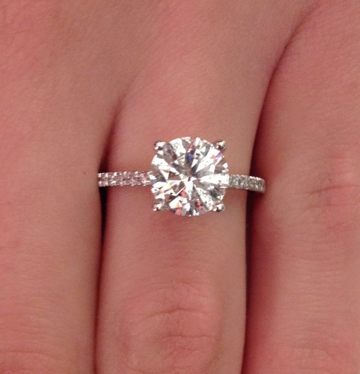 2.00 CT ROUND CUT D/SI1 DIAMOND SOLITAIRE ENGAGEMENT RING 14K WHITE GOLD #NOVO #SolitairewithAccents