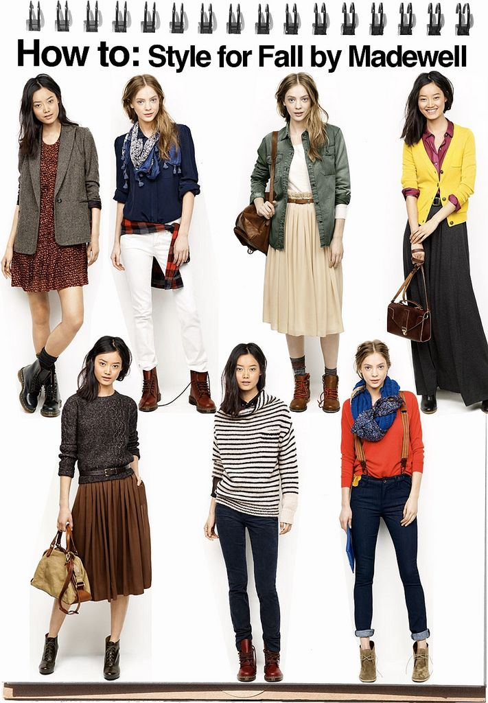 Madewell style for fall...get ideas from here and make one of the looks YOUR own!