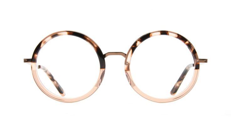 Affordable Fashion Glasses Round Eyeglasses Women Balance Rose Tortoise Front