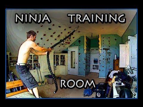 ninja warrior training room  ninja warrior course