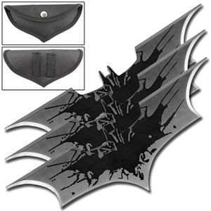 Black Splash Batman Batarangs Set of 3 For Sale | AllNinjaGear.com - Largest Selection of Ninja Stars, Throwing Stars, and Shuriken