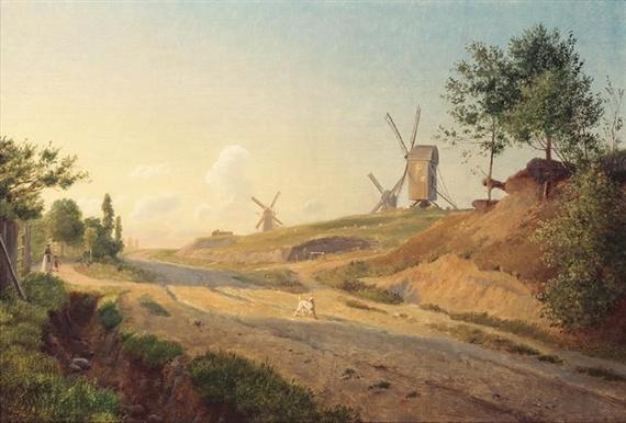 Johan Thomas Lundbye (1818-1848): Møllebakken Near Kallundborg