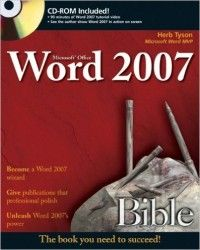 Microsoft Word 2007 Bible Pdf Download e-Book