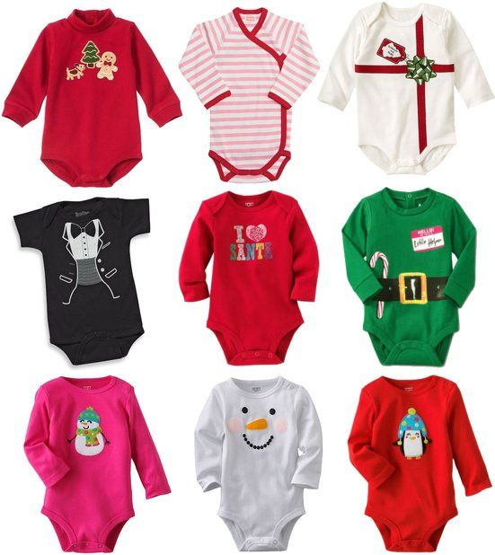 9 Onesies For Baby's First Christmas