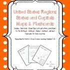UPDATED 9/8/2013! Now includes state location flashcards as well! 3 states & capitals maps (labeled, blank with & without word bank) for each of the 5 regions of the United States (15 maps in all). $