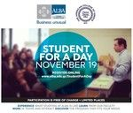 Be an ALBA Student For A Day on November 19! Participation is free of charge but there are limited places, so book your place now #ALBA #StudentForADay