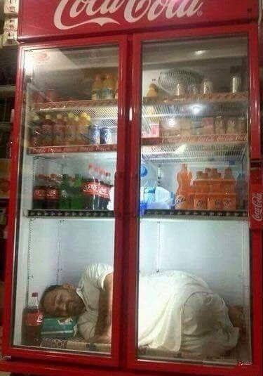 Garmi ka Jugaad #Funny #Images #FunnyImages #Funnypics