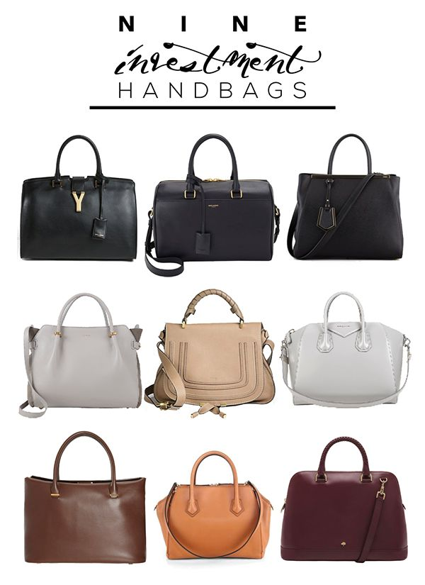 The 9 Investment Handbags.