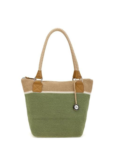 Our favorite tote in an new updated version and new colors featuring our signature Tight weave crochet and double handle.  Size: 16.5in l x 6.7in w x 12.2in h, drop : 9.8in