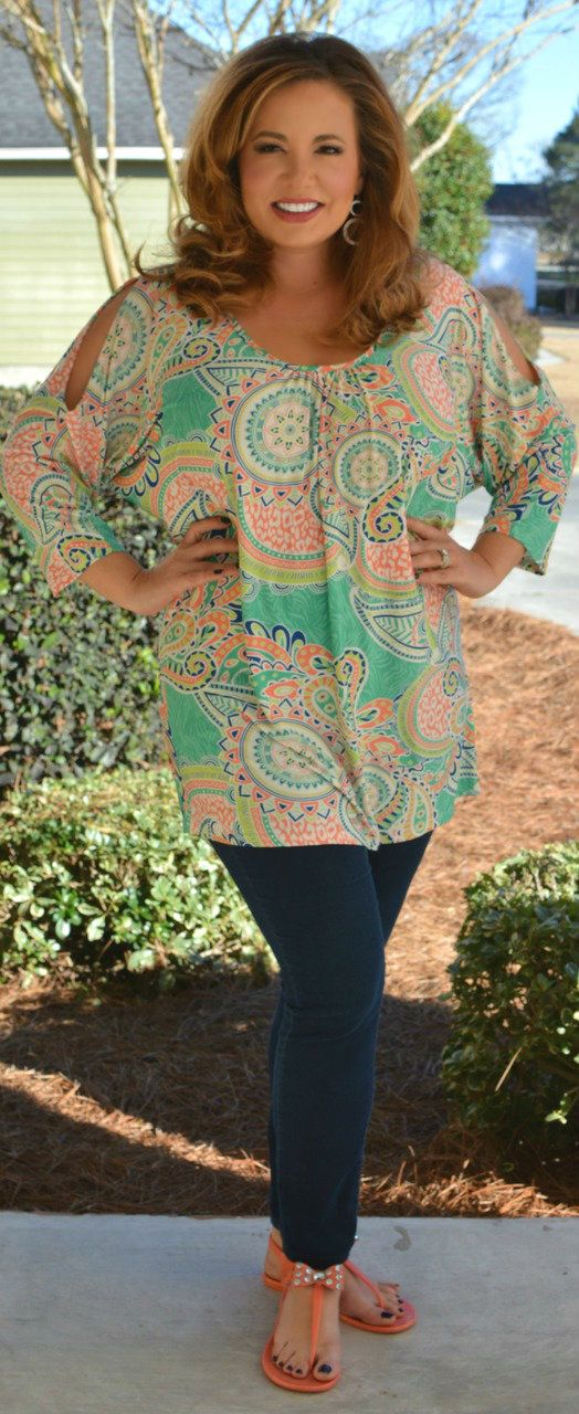 Perfectly Priscilla Boutique - Winding Roads Tunic, $40.00 (http://www.perfectlypriscilla.com/winding-roads-tunic/)