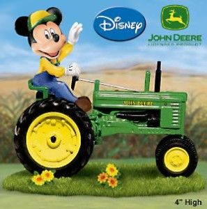 Farm Magic Mickey Mouse and John Deere Tractor Figurine This has me written all over it!