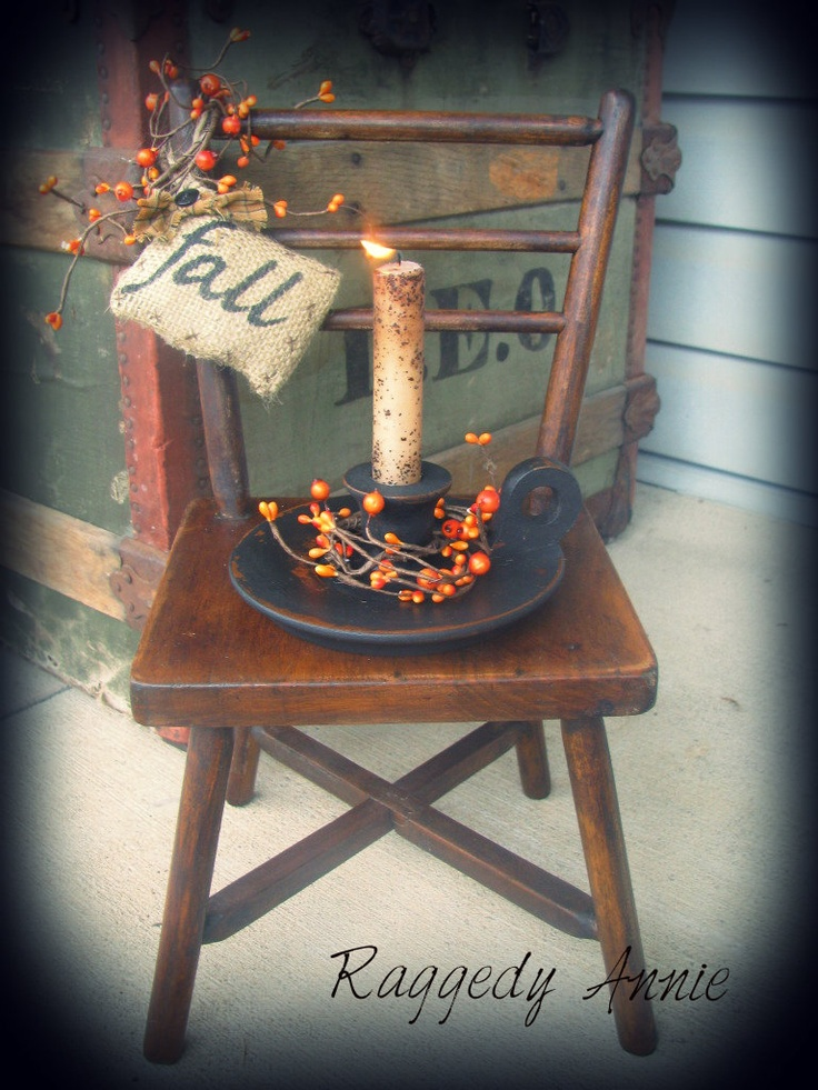 "Primitive ""Fall"" Chair Gathering"